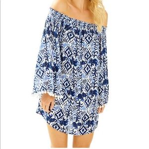 Lilly Pulitzer Nita Off The Shoulder Cover Up